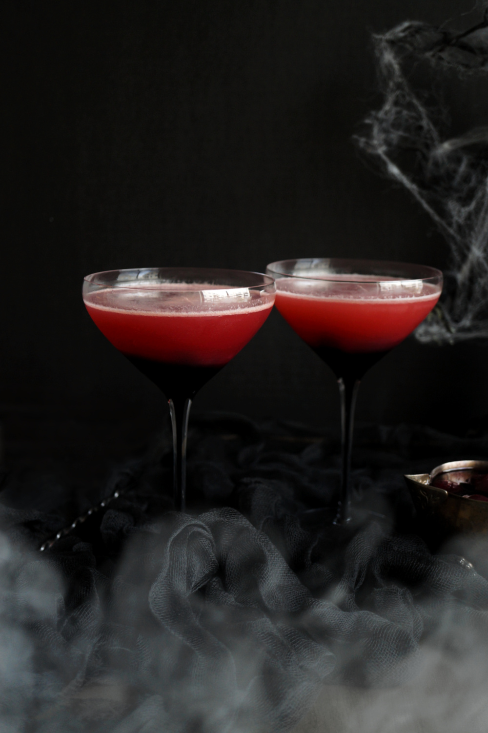 two glasses of vampire's kiss cocktail