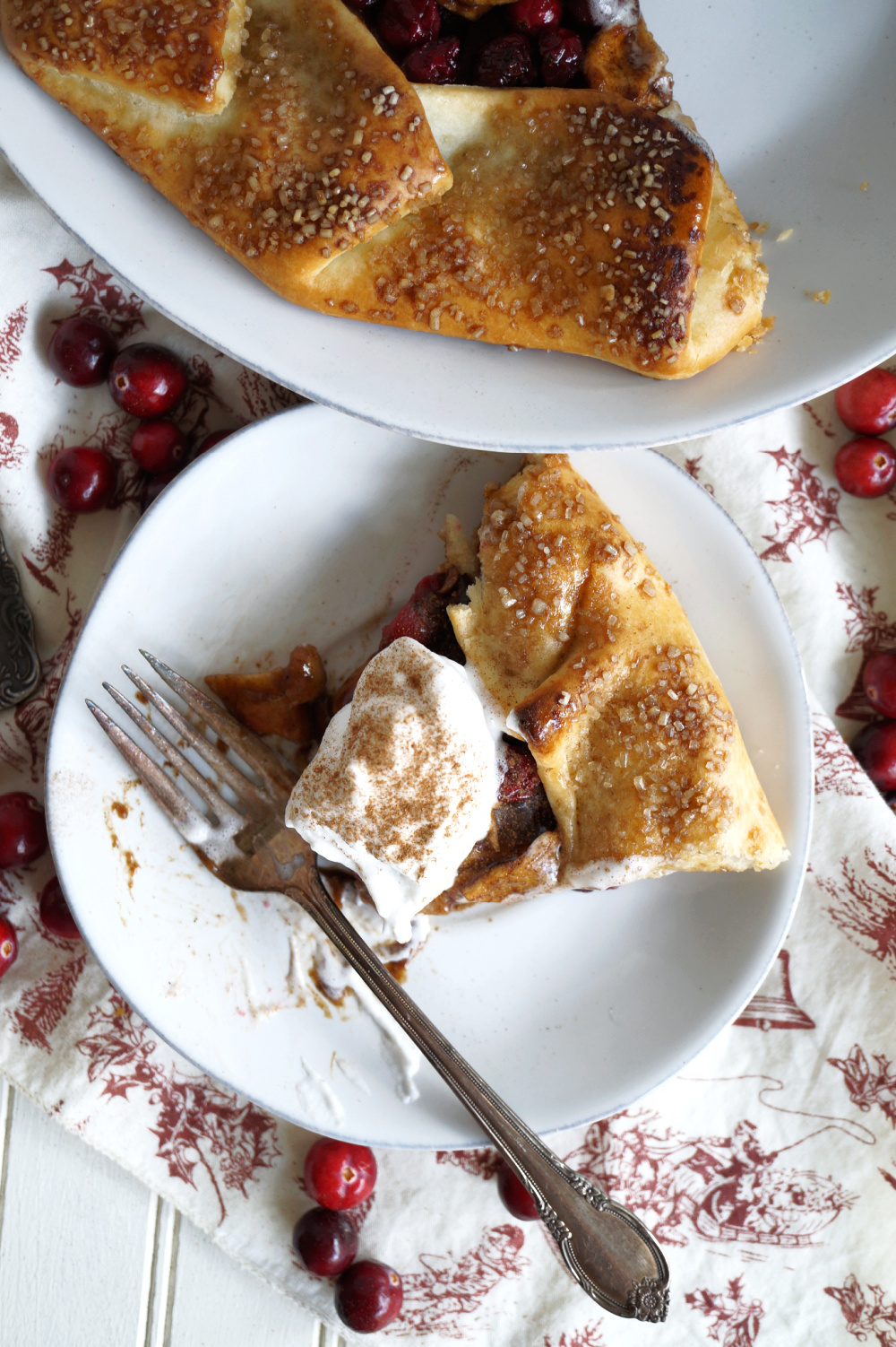 slice of galette on a plate with fork