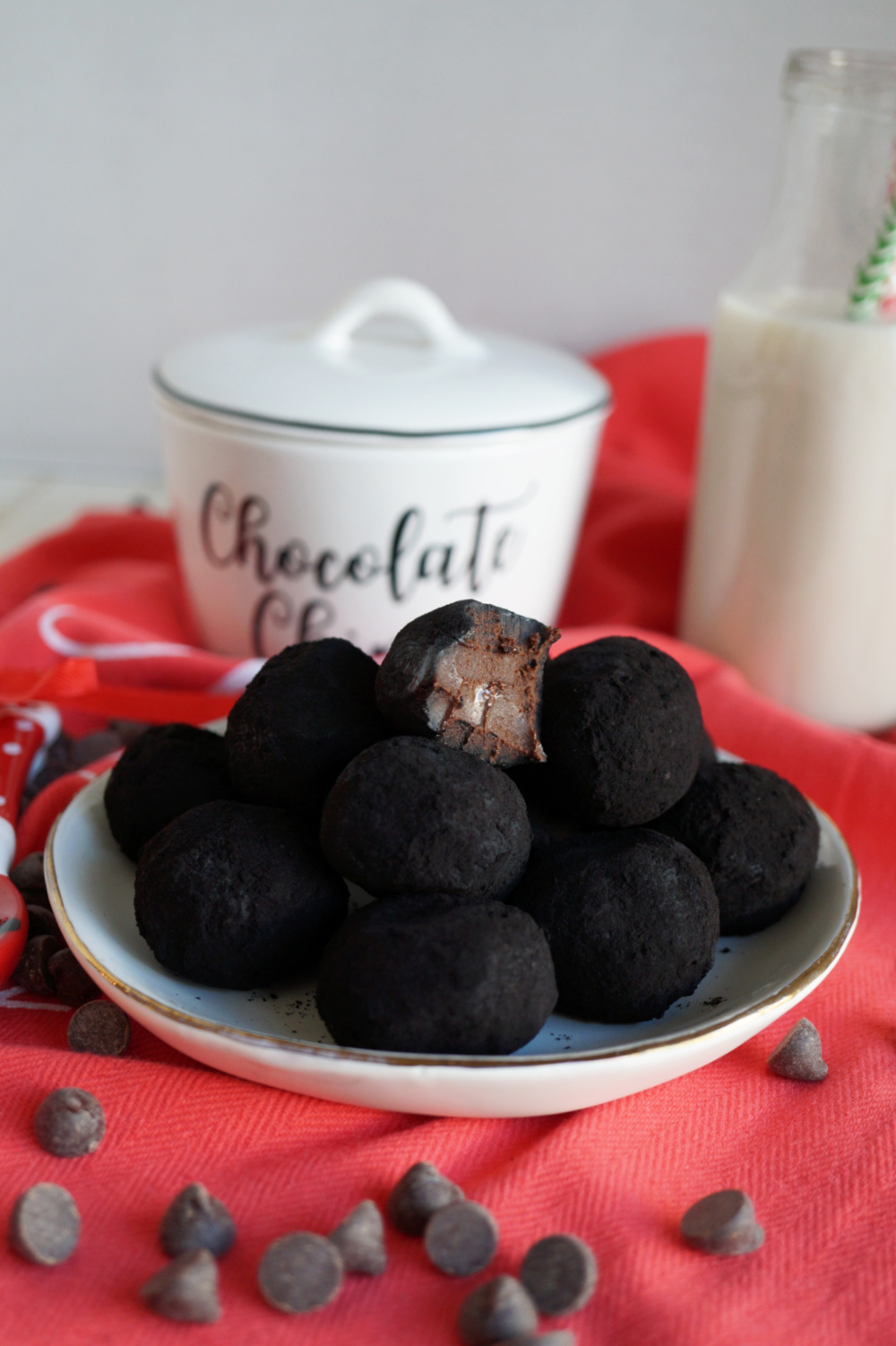 lumps of coal truffles with bite taken out