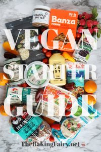 starter guide graphic with vegan foods
