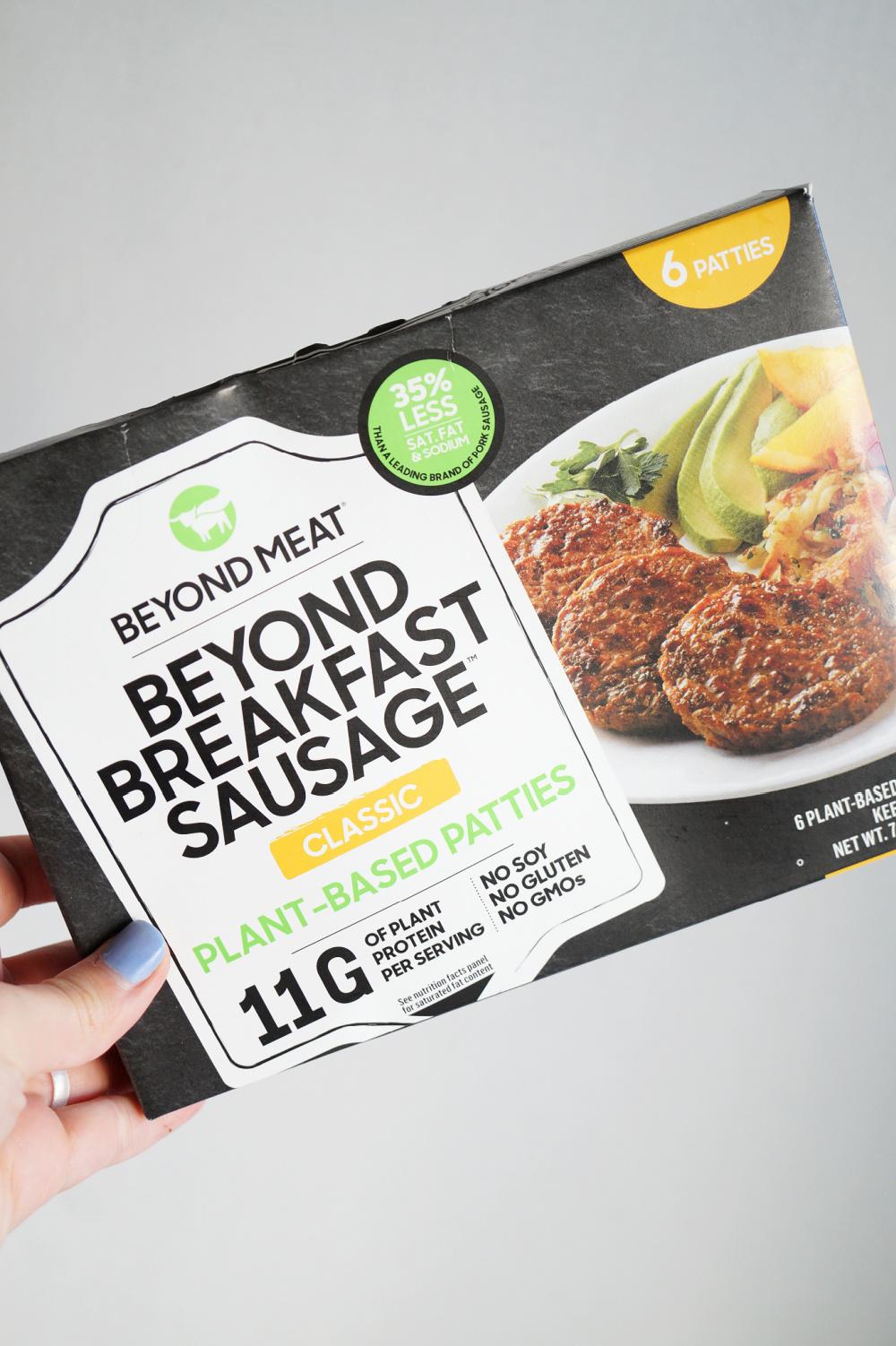 vegan breakfast sausage package