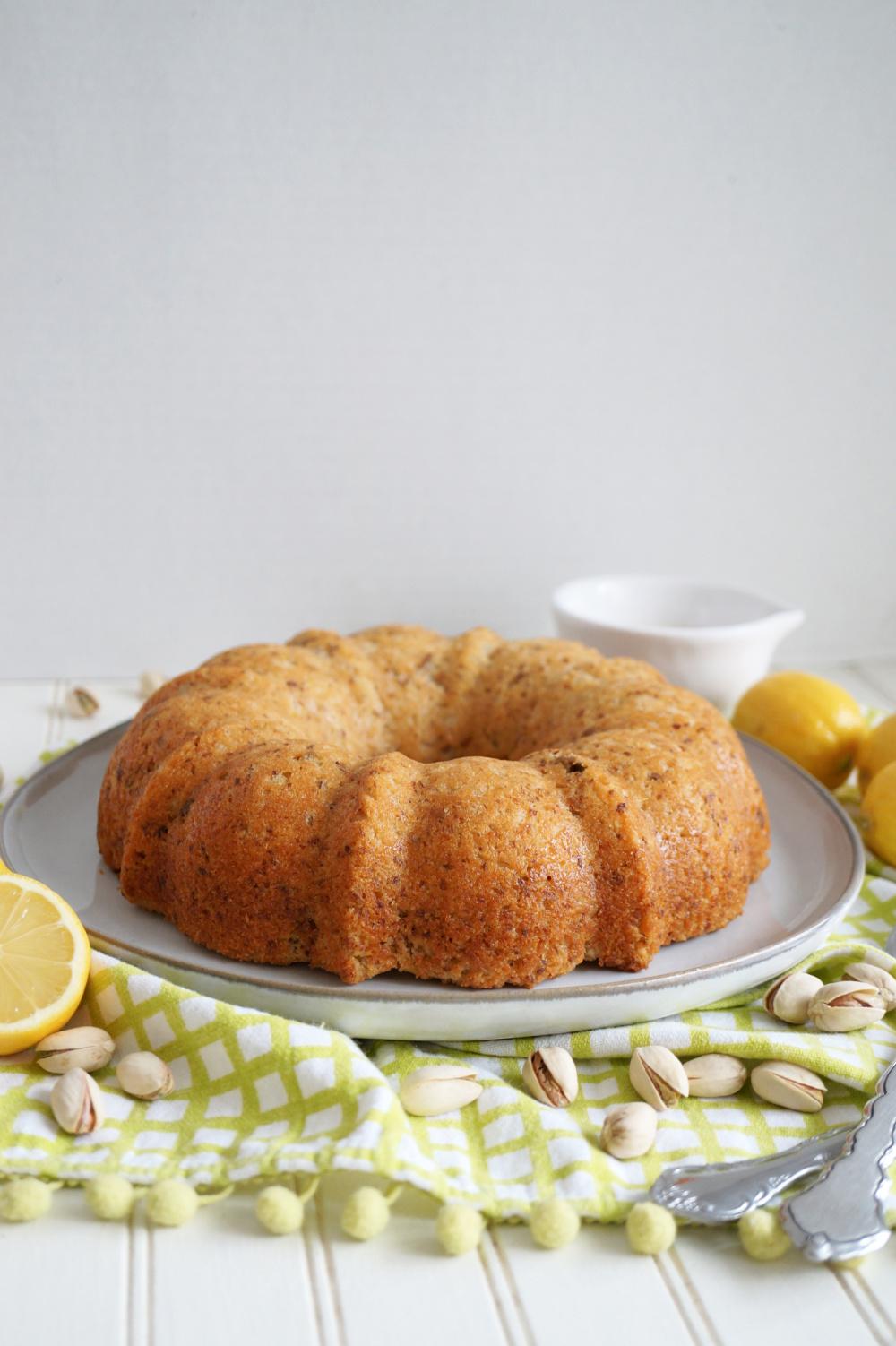plain lemon pistachio bundt cake