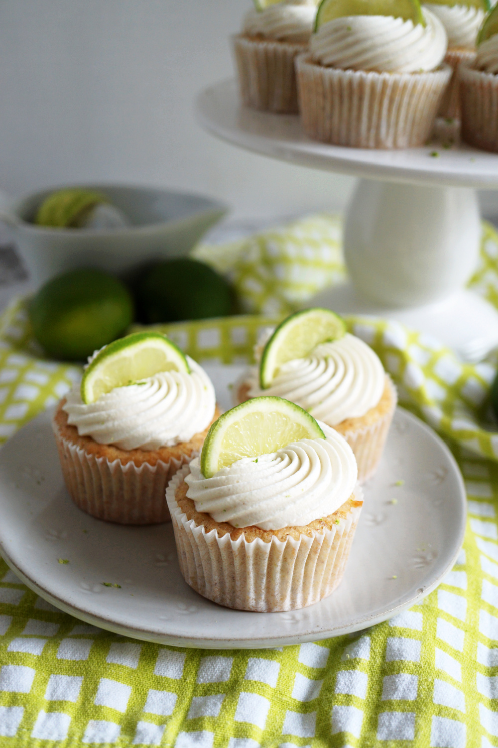 key lime cupcakes on plate