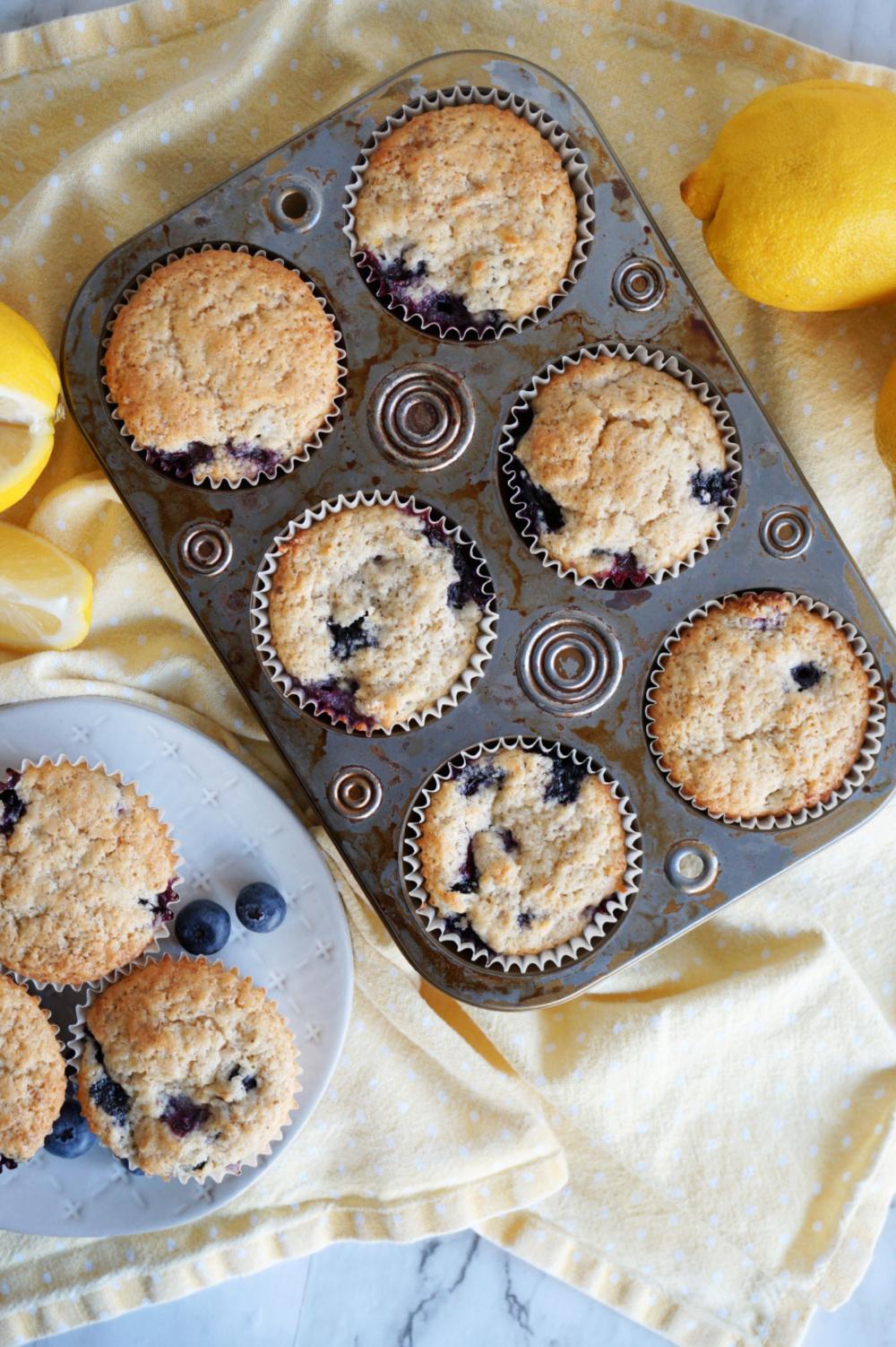 overhead shot muffin pan